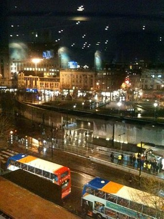 Mercure Manchester Piccadilly Hotel:                   View from bar.