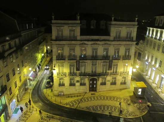 Lisbon Poets Hostel:                   Night view from hostel