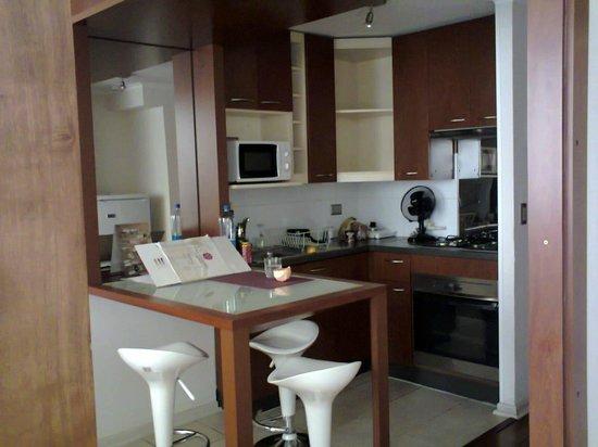 Andes Hostel:                   Cozinha muito bem equipada.
