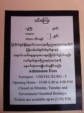 National Museum:                   öffnungszeiten