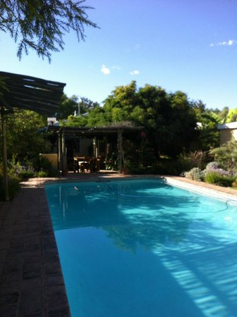 Libby's Lodge: The pool and the garden