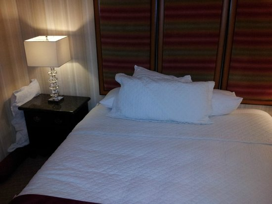 BEST WESTERN PLUS Sutter House :                   Unmade Bed with pillows on floor