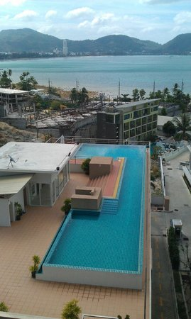 The Bay Cliff:                   View from our balcony - the shared pool below