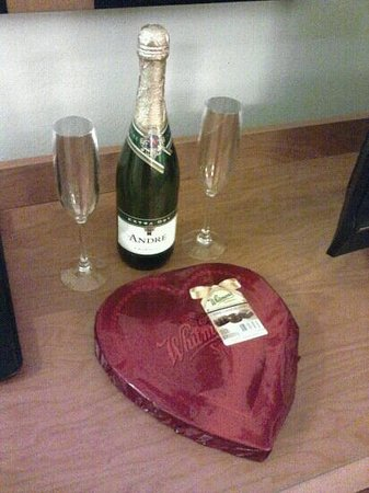 Fairfield Inn & Suites Louisville East:                   Champagne and chocolates for our romance escape package