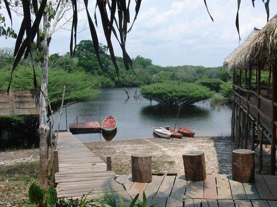 Tariri Amazon Lodge:                                     Anlegeplatz