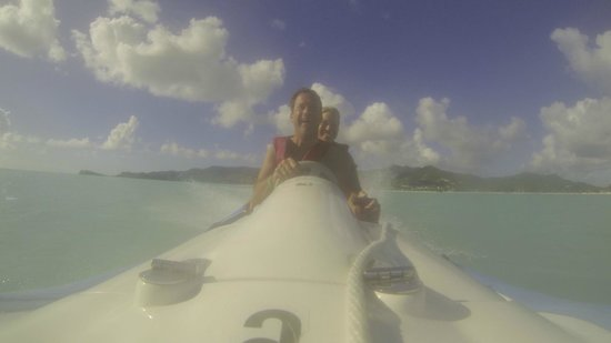 WCT - West Coast Tours Antigua: laughing on the RIB