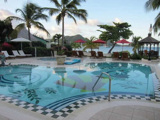 Sandals Grande St. Lucian Spa & Beach Resort:                   just one of the pools