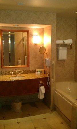 Harrah's Resort Atlantic City:                   bathroom marble n tile