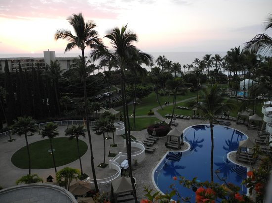 Fairmont Kea Lani, Maui:                   view from room (5th floor)