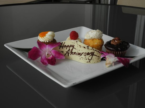 Fairmont Kea Lani, Maui:                   Anniversary cupcakes delivered upon arrival