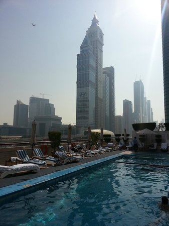Crowne Plaza Dubai:                   View from pool