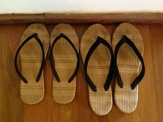 Villa Inle Resort & Spa: Slippers courtesy of the hotel