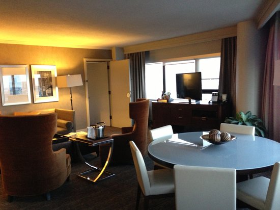 The Westin Copley Place, Boston:                   Living room in suite with a second bathroom and second entrance (Governor Suit