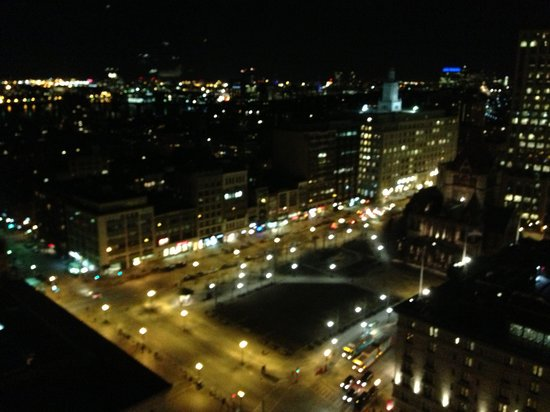 The Westin Copley Place, Boston:                   Night view of Boston (Copley Square)