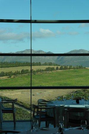 The Restaurant at Waterkloof: Blick vom innen nach außen