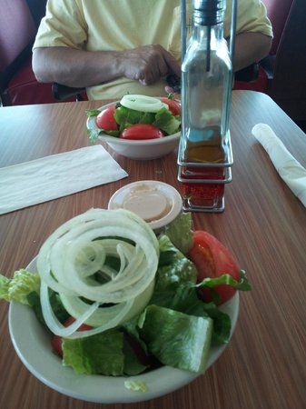 Habanos Oceanfront:                   nice & fresh salad which we picked to accompany the cook our catch meal of lob