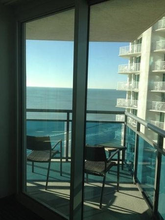 Oceans One Resort:                   one balcony, oceanview and blvd view