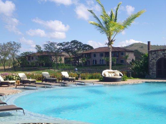 Rancho Santana:                   view from pool to condos