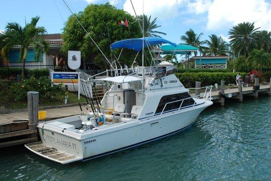 Mystic Amara III - Deep Sea & Bottom Fishing Charters: Mystic Amara II at the dock