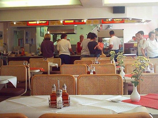 Interior of Pinnacles Restaurant Seahouses Northumberland