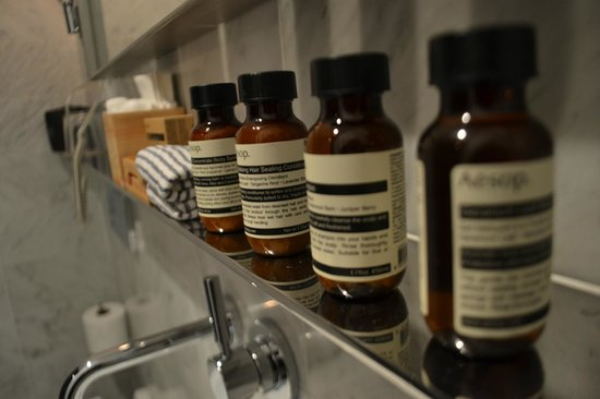 Hotel Americano:                   SO many bath products