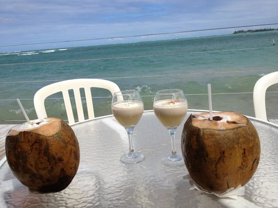 La Playita:                   Sitting on the deck with the waves crashing at our feet drinking Coco Locos