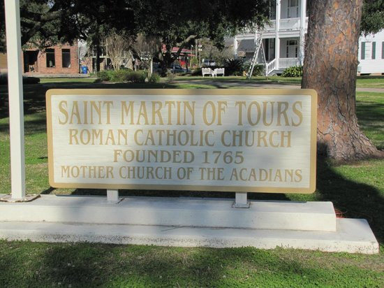 Church of St Martin de Tours:                   St. Martin plaque