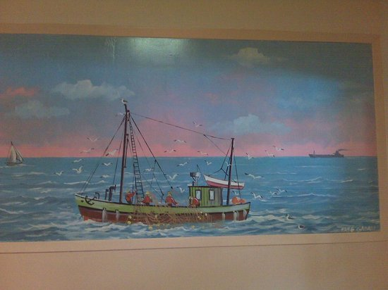 Uncle Joe's Pizza & Restaurant:                   Classic hand painted works of art by the late  Long Island Master Hans Gabali