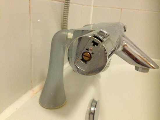 Westmead Hotel:                   Bath faucet missing cover