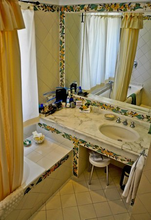 Bath for our room, Hotel Buca di Bacco, Positano, Italy