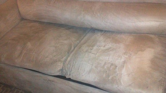 Holiday Inn & Suites Beaufort at Highway 21:                   worn sofa