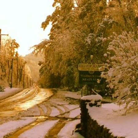 Hilltop Manor Bed & Breakfast: Driveway