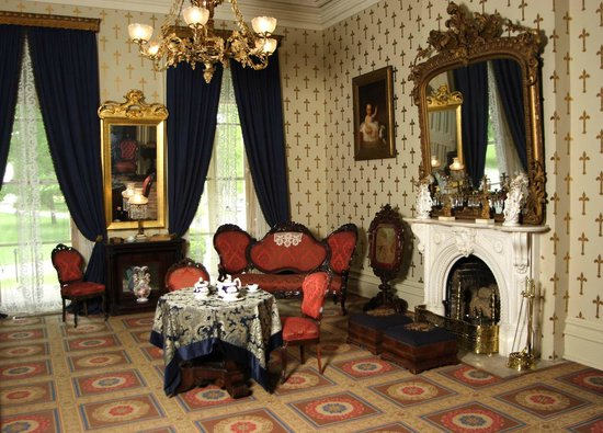 Oaklands Mansion: Oaklands' front parlor on a bright summer day.