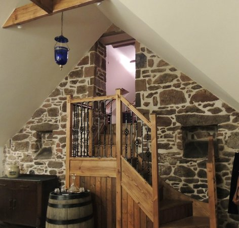 Mill of Nethermill Holidays:                   From kitchen to lounge area, beautiful stairway