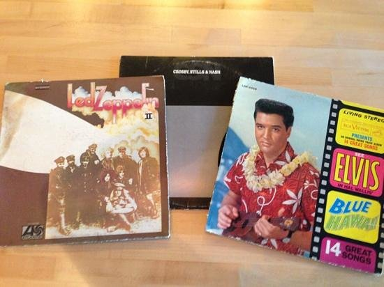 The Redbury Hollywood:                   just a few of the great selection of vinyl