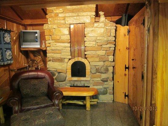 Big Bear Hideaway:                   Lovely stone craftmanship by Joe Hovel