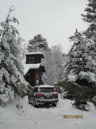Big Bear Hideaway:                   The beautiful North Woods is just outside your door!