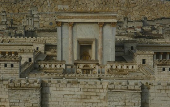 İsrail Müzesi:                   A model of Jerusalem during the second temple period
