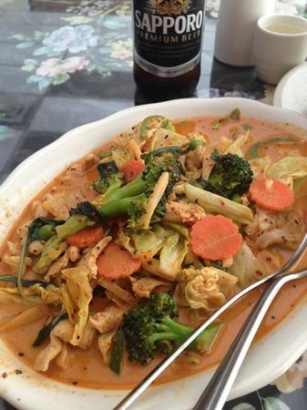 Thai Pepper Restaurant :                                     that's what I call chicken veggie curry