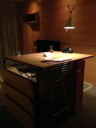 Hotel Gault:                   Beautiful high-top desk (albeit not great for extended work)