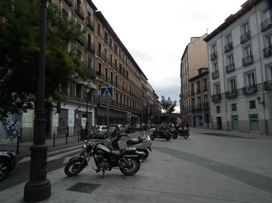 Hostal Art Madrid:                   Conde de Romanones view - the hostel on the right