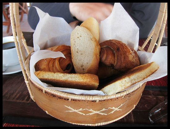 The Moon Villa:                   A basket of breads