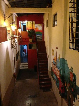 Pariwana Hostel Cusco:                   Hallway where the private rooms are