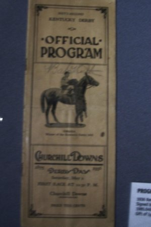 Kentucky Derby Museum: Program signed by Babe Ruth