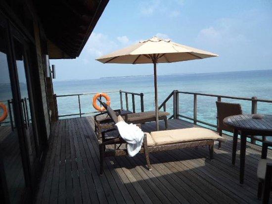 The Sun Siyam Iru Fushi Maldives:                   Water Villa manzarası