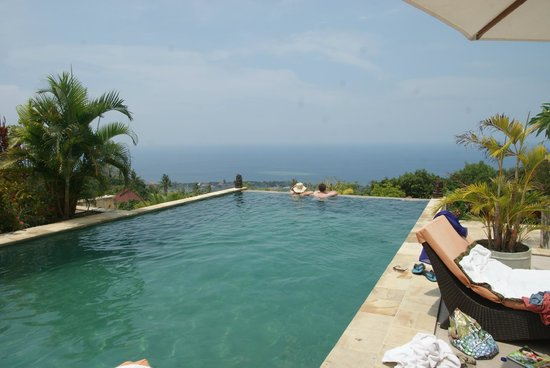 The Hamsa Bali Resort:                   Pool with a great view