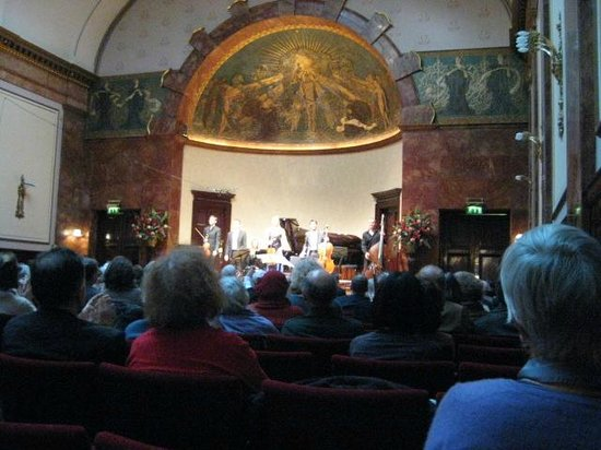 Wigmore Hall with musicians