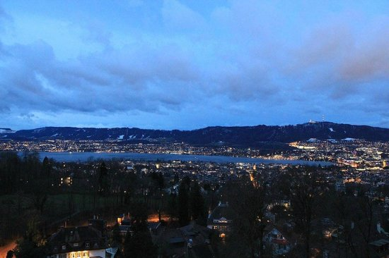 The Dolder Grand:                   View over Zurich Lake early Morning