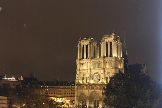 Hotel le Notre Dame: Vista a Notre Dame
