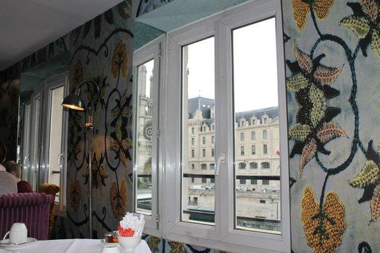 Hotel le Notre Dame: Desde el comedor